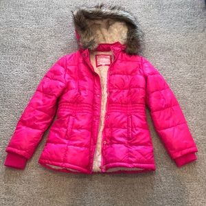 Justice girls size 12/14 puffer coat